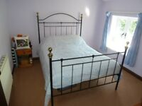 Double bed with Silent Night Miracoil Mattress