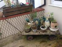 Wooden train cart vintage antiques