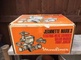 Vintage Moulimex Jeannette Mark 3 Complete & Boxed
