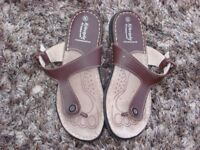 Lifestyle by Cushion-walk brown leather sandals. UK Size 5E. Hardly worn. Can post or collect from T