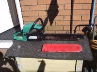 Gardenline petrol chainsaw 45.8cc 18 inch bar