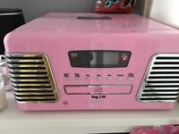 Steepletone CD player radio, & record player