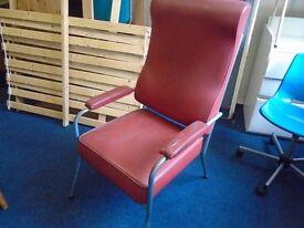 retro metal framed arm chair.