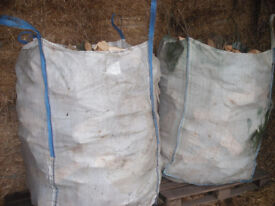 Logs 2 Big Tote Bags Approx 2m3 (2x 1m3 bags)