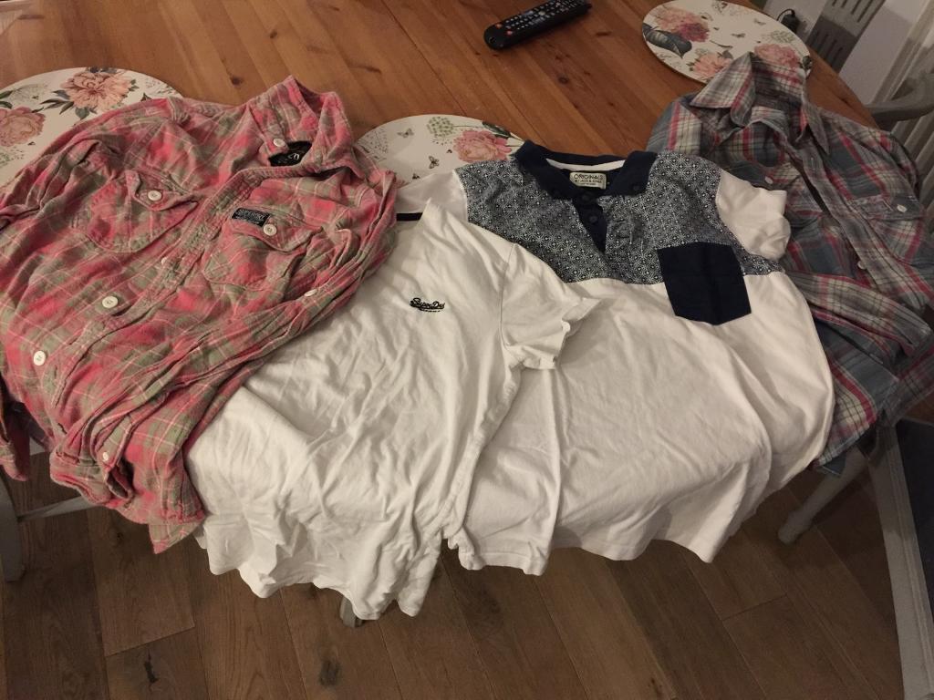 Super dry shirts x 2 super dry tshirt and jack jones polo