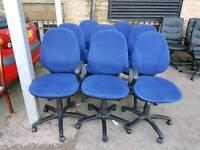 Chairs - Quality Blue Fabric Tilt Forward / Backward Swivel Chairs