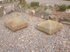 Two Victorian Apex Coping Stones