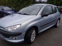 Peugeot 206 GTI MOT AUGUST CD PLAYER ALLOYS DRIVES GREAT £280 DRIVES AWAY