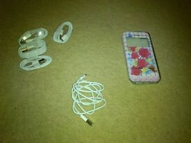 New I-phone cables + cover used I-Phone 5!