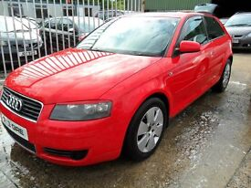 audi a3 1.9 tdi red 2004 with full years mot