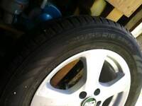 Tyres with alloy whell