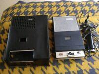 Philips & Norelco 1960s ? tape cassette recorder & accessories. BRIGHTON