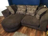 Lullaby sofa & swivel chair from DFS