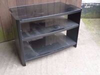 Small Black Glass Tv Stand Delivery available