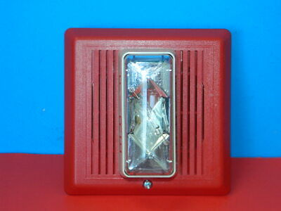 Est Edwards 757-7a-t Temporal Horn Strobe 24 Vdc Red