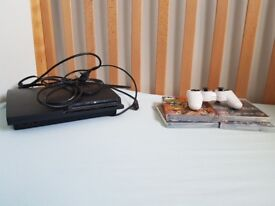 Got a perfectly working ps3 with all cables, 4 games and a contoller