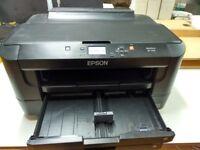 Two Epson Workforce Printers + compatible ink cartridges - Spares or Repair