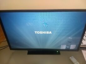 TOSHIBA 32 INCH LED TV FULL HD HDMI SCART USB 5MONTHS OF USE- EXCELLENT CONDITION