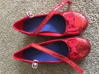 Girls red glitter shoes size 13-1