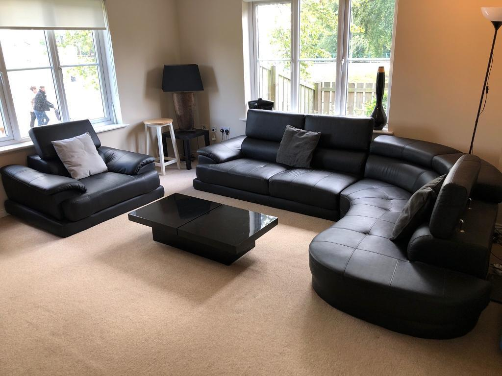 Pleasing L Shaped Black Leather Sofa Single Seat Black Coffee Table In Uddingston Glasgow Gumtree Gmtry Best Dining Table And Chair Ideas Images Gmtryco