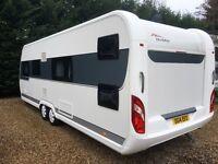 Hobby Caravan 650 Kfu Prestige (2015) 6/7 Berth With Fixed Bunk Beds. Like Tabbert And Fendt