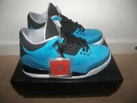 Nike Air Jordan Retro 3 Powder Blue Shoes , Trainers , Uk Size: 8 (Euro: 42.5) Worn Once !