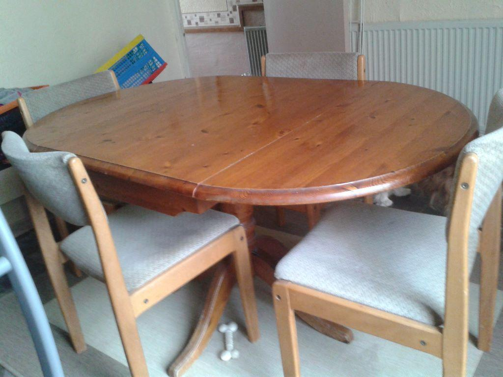 pine dining table with 4 6 chairs in southampton hampshire