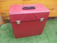 retro vynl LP record storage box