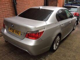 BMW 520D M SPORT, AUTO, SILVER, BLACK LEATHER INTERIOR,2006(06)