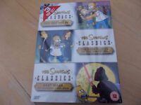 Brand New 3 DVD Set of The Simpsons Classics.
