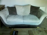 Three seater and two seater sofas