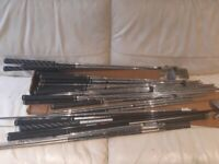 Various golf shafts
