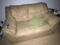 Camel leather sofa - bargain!!