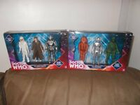 Dr who figure sets x 2 , the monsters + the tenth doctor brand new