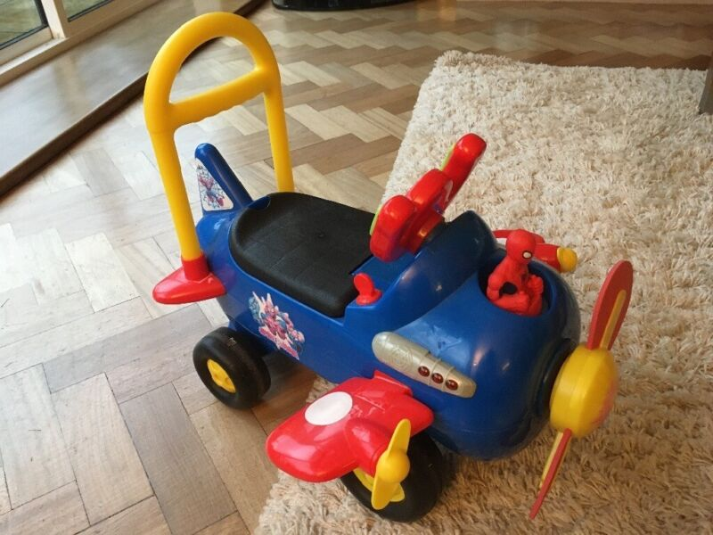 Ride on Spiderman aeroplane toy -age 18 months upwards, used for sale  Copthorne, Crawley