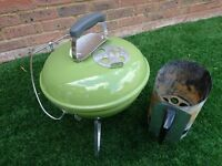 Used, good condition Portable Weber Smokey Joe Premium Charcoal BBQ in Spring Green