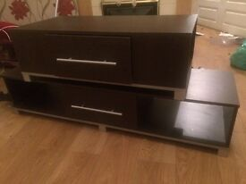 Tv unit set dark brown great price