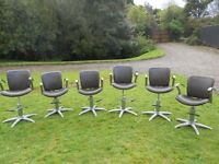 6 Barbers/Hairdressers/Beauty Hydraulic Swivel Chairs