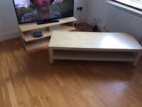 Coffee table and tv stand £20 for both
