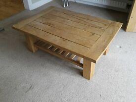 bespoke rustic oak coffee table