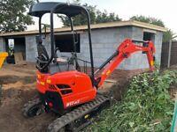 Kubota U17-3 digger excavator 2021 and Terex TA1 Hi - Tip dumper truck 2015
