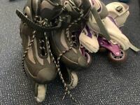 Rolling inline skates