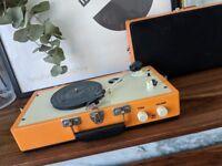 Retro Record Player with Speaker