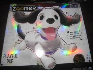 Spin Master Zoomer Playful Pup. Robot Dog Pet. 25 Trick. Fully Interactive. Respond to Sound, Touch. Fuzzy Ear and Tail.