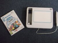Wii U Draw Studio with U Draw game tablet and manual