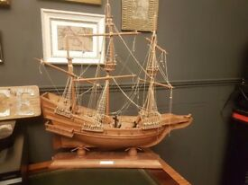 Large wooden ship