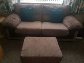 DFS sofa, sofa bed and foot stool with storage