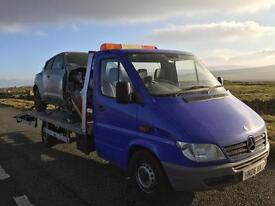 Mercedes sprinter recovery full Mercedes service,new bed,air suspension,very good condition