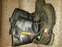Boots, work/safety, CAT size 9.5