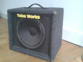 "Tubeworks 100W 8ohm 12"" Guitar Speaker Cabinet Open or Closed Back Eminence Cab Ex Vintage Condition"